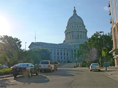 Capital building in Madison, Wisconsin