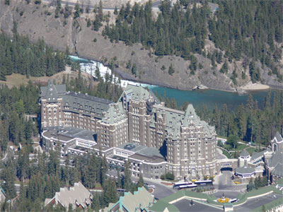 Banff Chateau, taken from the mountain