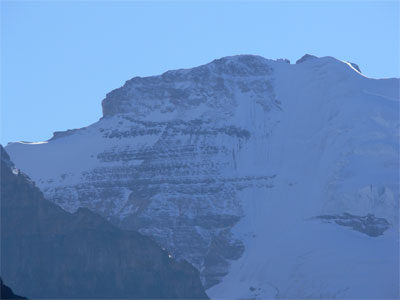 Mount Victoria at end of Lake Louise