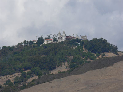 View of Hearst Castle from the visitor centre, 5 miles away