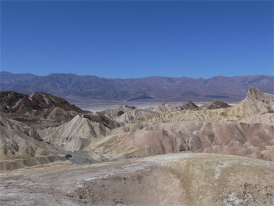 Looking down into Death Valley
