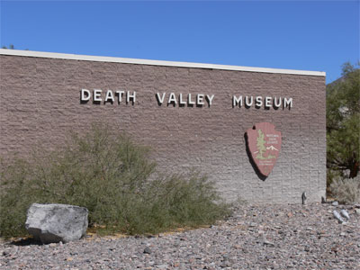Death Valley Museum. The park staff here were very jovial and helpful.