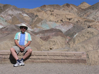 John at viewing area of Artist's Pallete on north side of Death Valley.