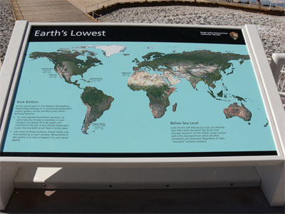 Map of the lowest points on earth